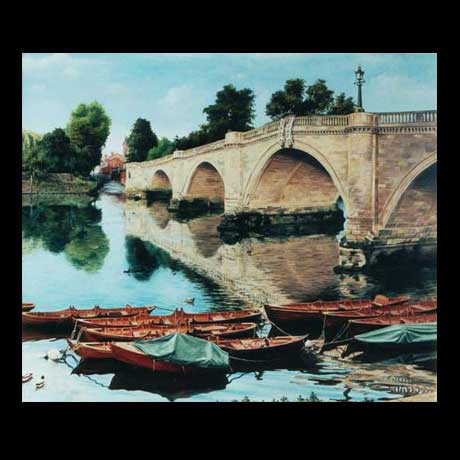 Richmond Bridge, oil painting on canvas