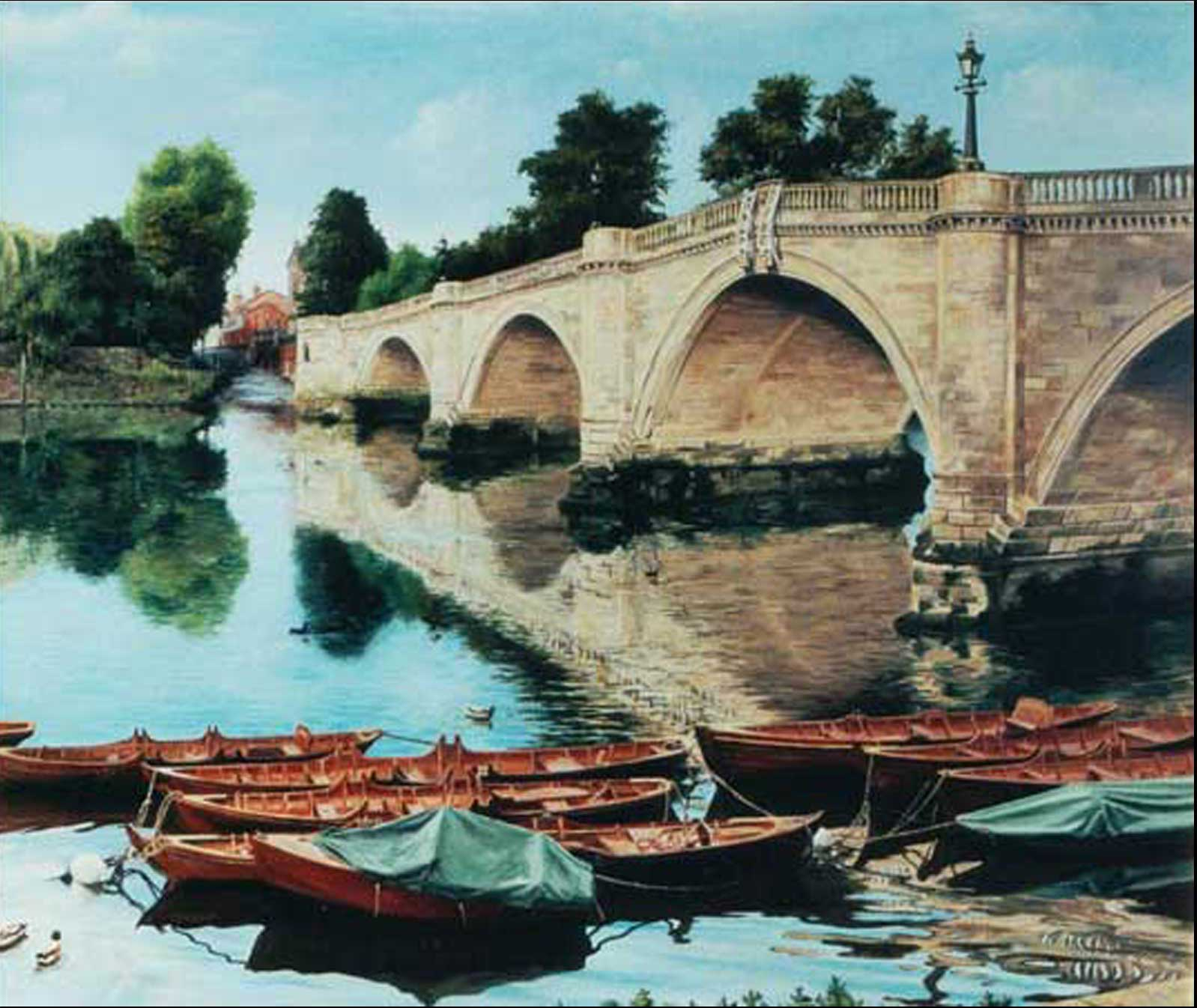 Richmond Bridge oil painting on canvas