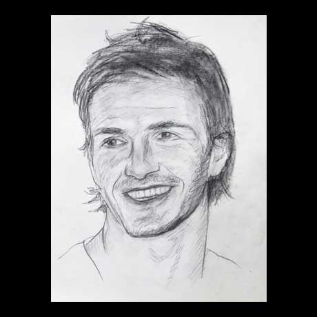 David Beckham celebrity pencil drawing
