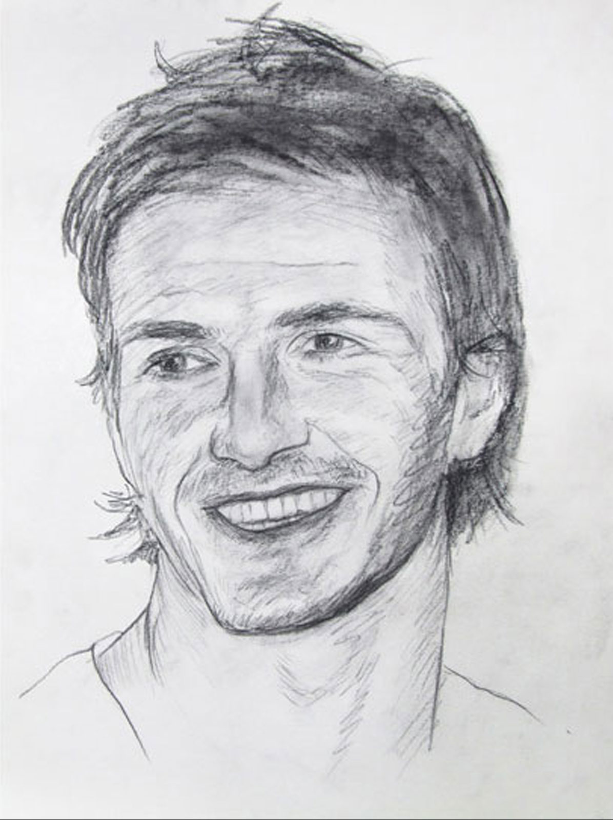 David Beckham portrait drawing on paper