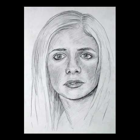 Buffy celebrity pencil drawing