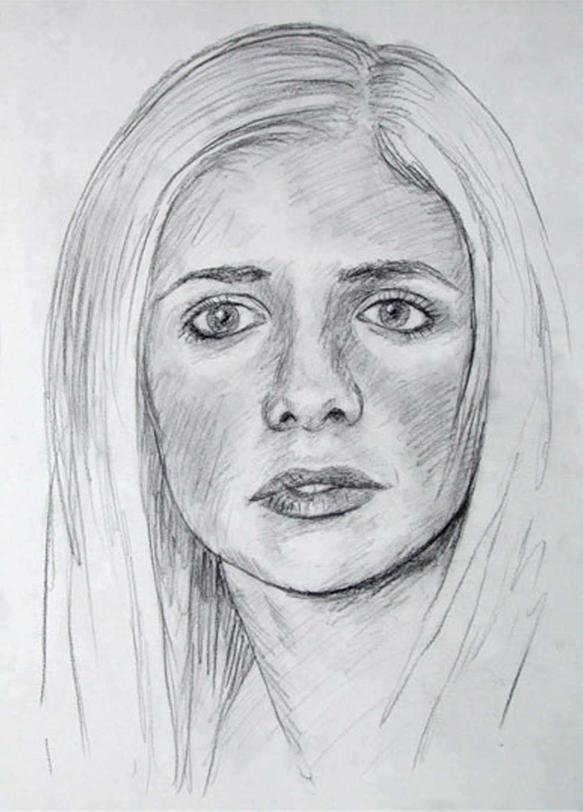 Buffy drawing on paper