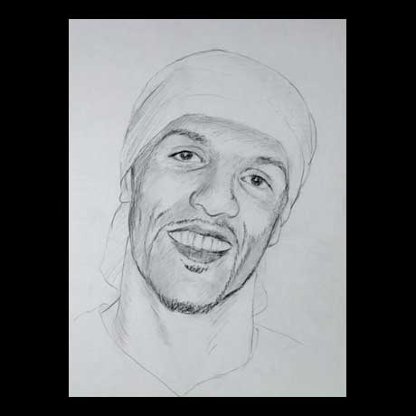 Craig David celebrity pencil drawing