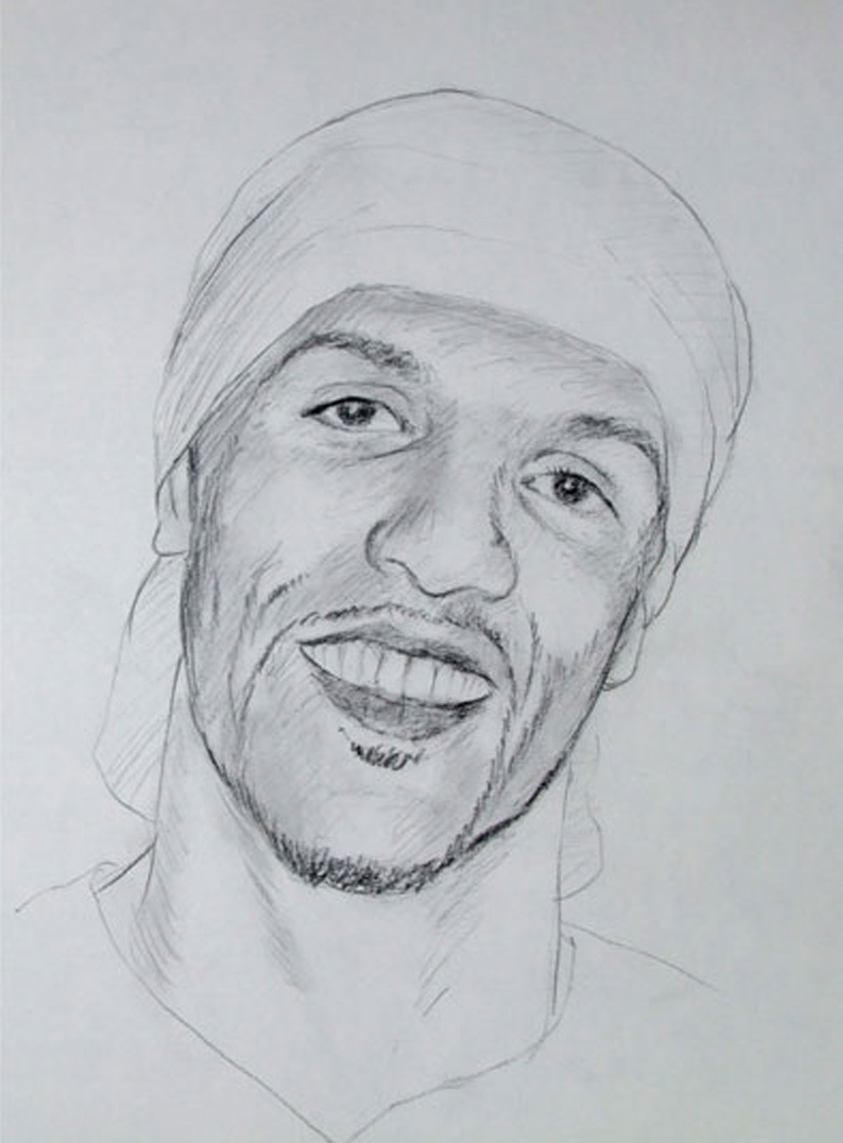 Craig David portrait drawing on paper