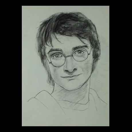 Daniel Radcliffe celebrity pencil drawing
