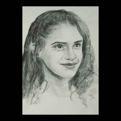 Emma Watson celebrity pencil drawing