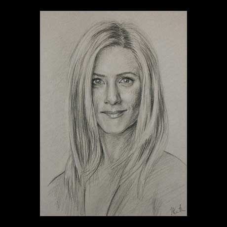 Jennifer Aniston celebrity pencil drawing