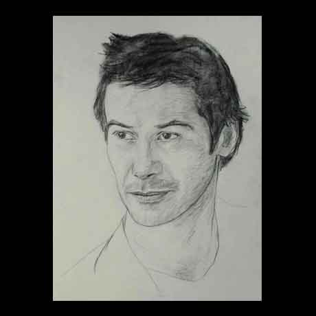 Keanu Reeves  celebrity pencil drawing