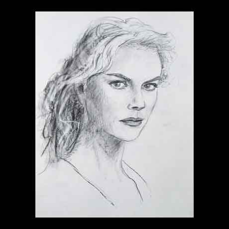 Nicole Kidman celebrity pencil drawing