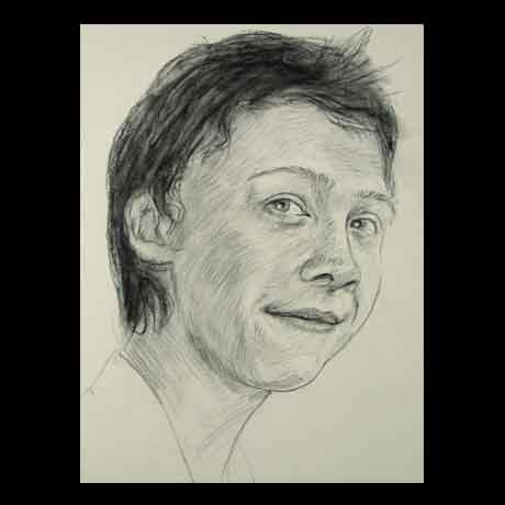 Rupert Grint celebrity pencil drawing