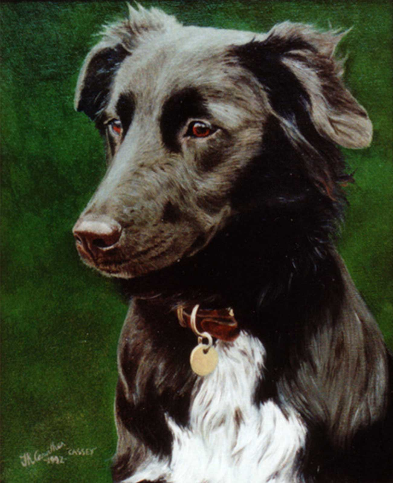Dog portrait oil painting on canvas