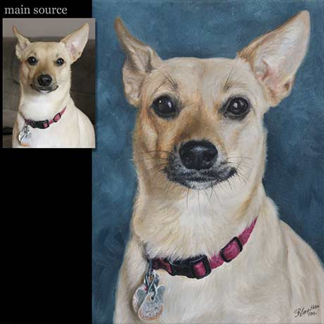 Dog portrait painting 30