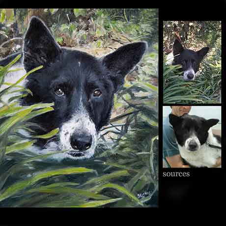 Dog portrait painting 3 - oils on canvas