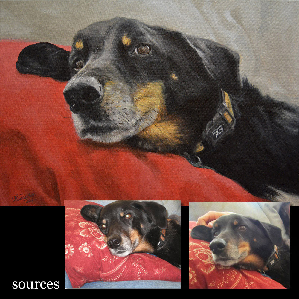 Dog portrait 4 oil painting on canvas