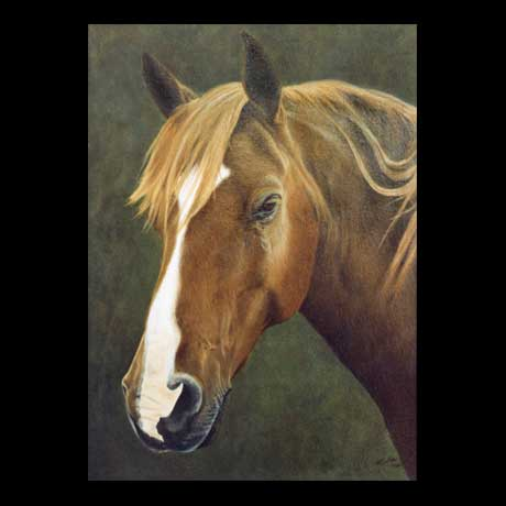 Horse Equine oil painting on canvas