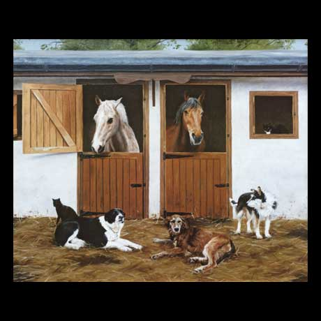 Horses Equine oil painting on canvas