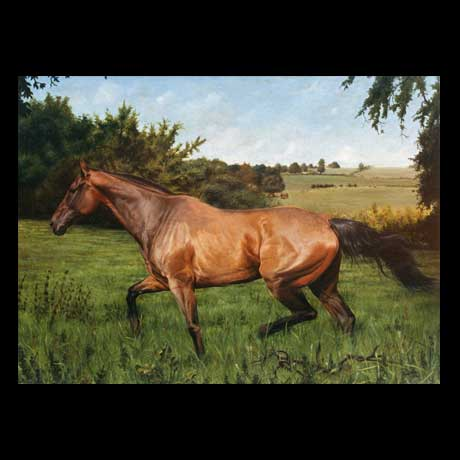 Horse painting, oil paint on canvas