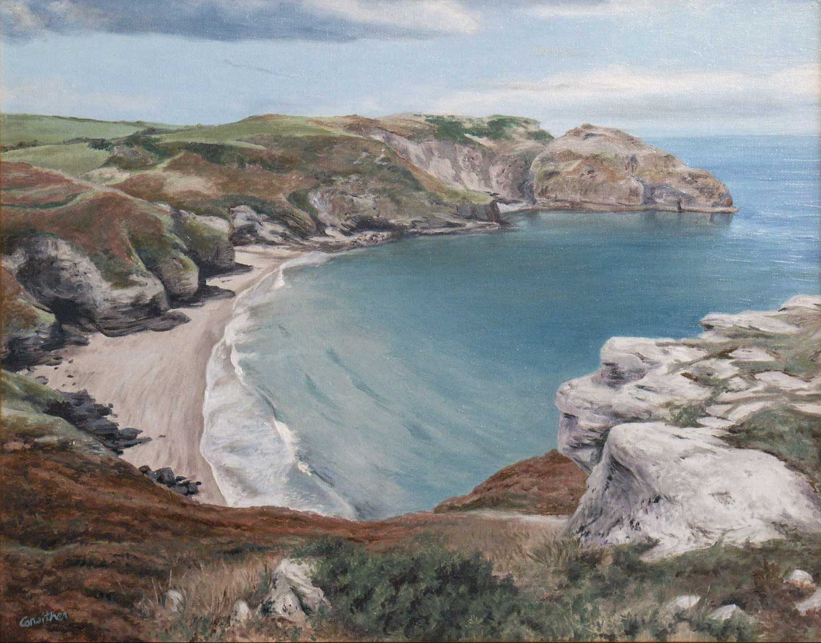 Tintagel, Cornwall oil painting landscape on canvas