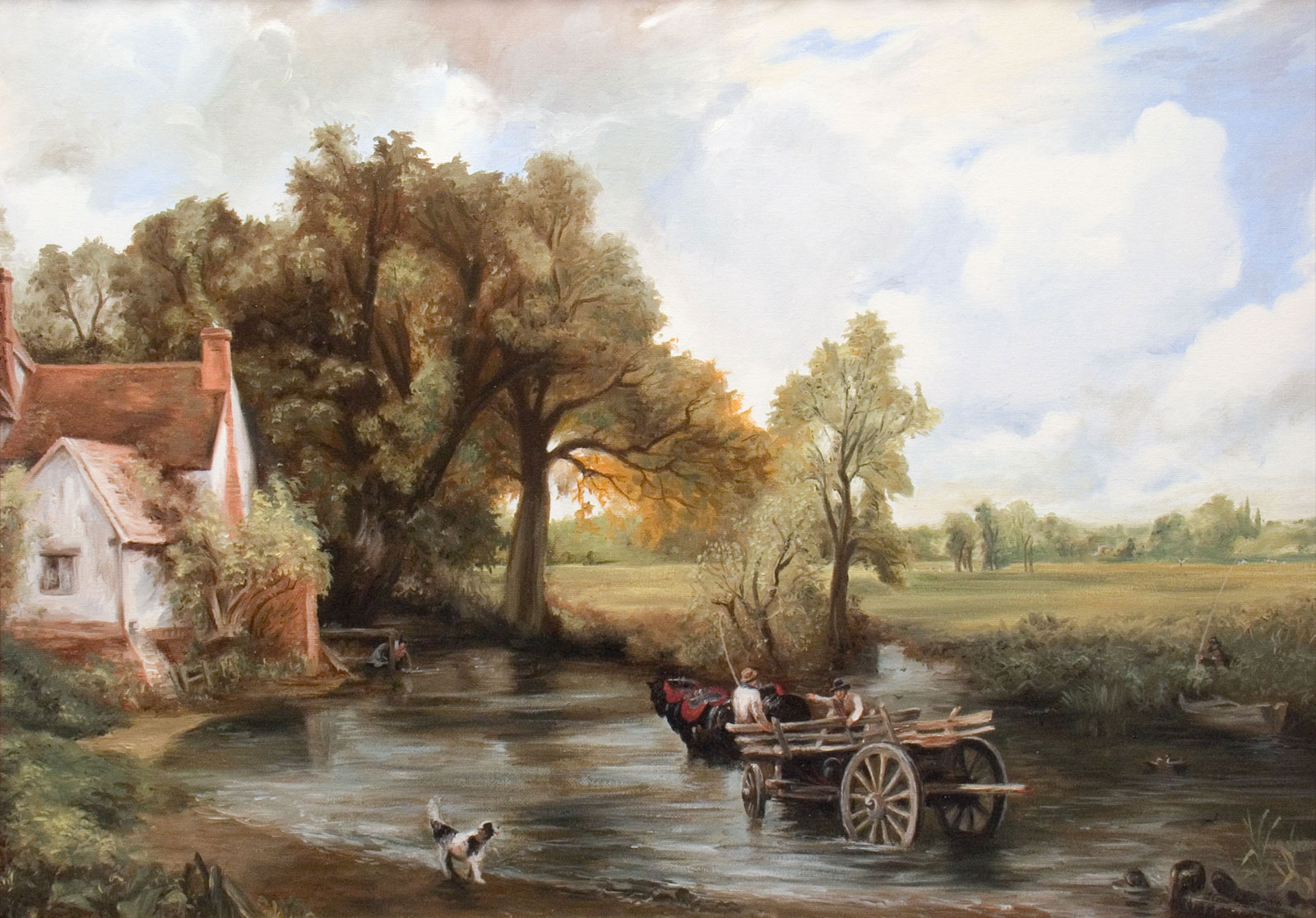 """The Haywain"" copy oil painting on canvas landscape"