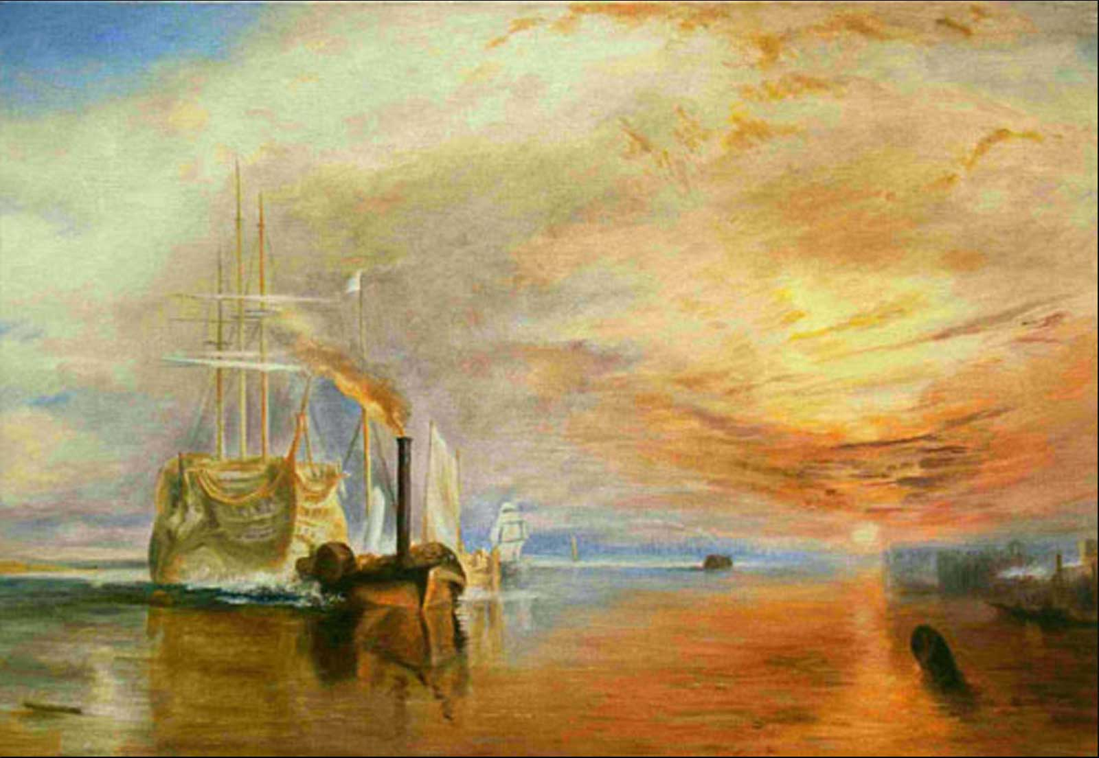 Turner copy oil painting on canvas landscape