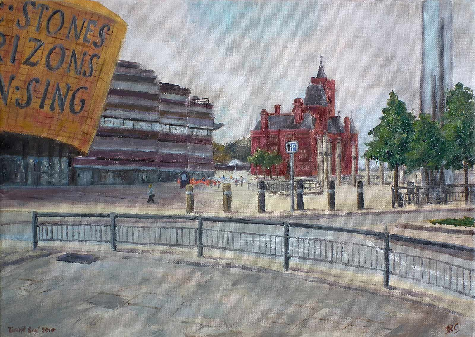 Cardiff Bay (1), oil painting on canvas