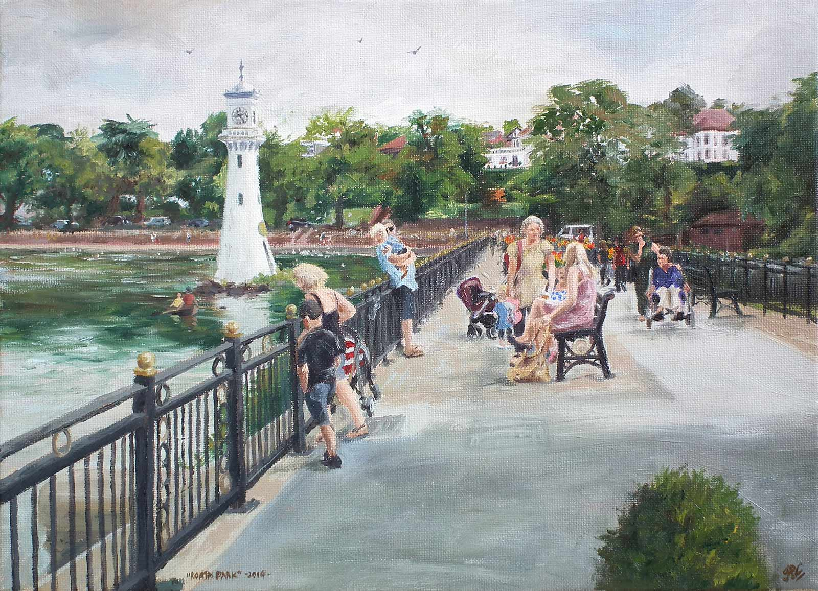 Roath Park (1), oil painting on canvas