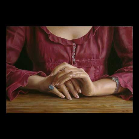 Hands painting, oil paint on canvas