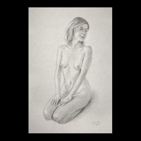 Nude, classic, drawing on paper