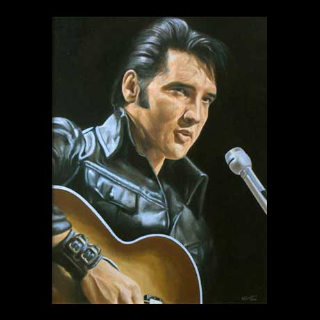 Elvis Presley painting, oil paint on canvas