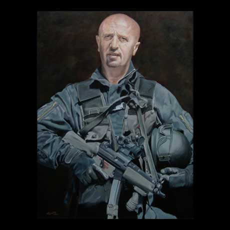 Special forces painting, oil paint on canvas